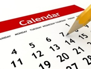calendar - schedule when to learn english