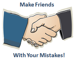 make friends with your mistakes -learning english