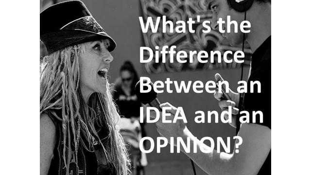 idea and opinion