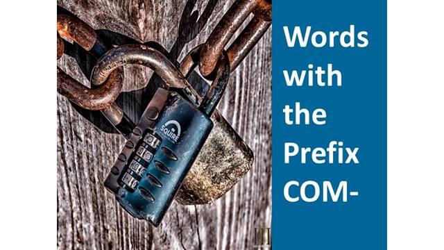 What Does the Prefix COM Mean?