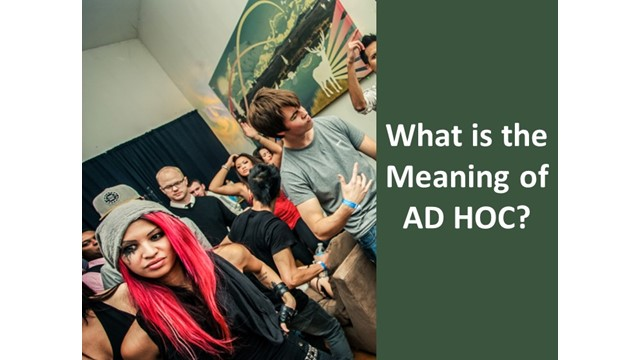 meaning of ad hoc