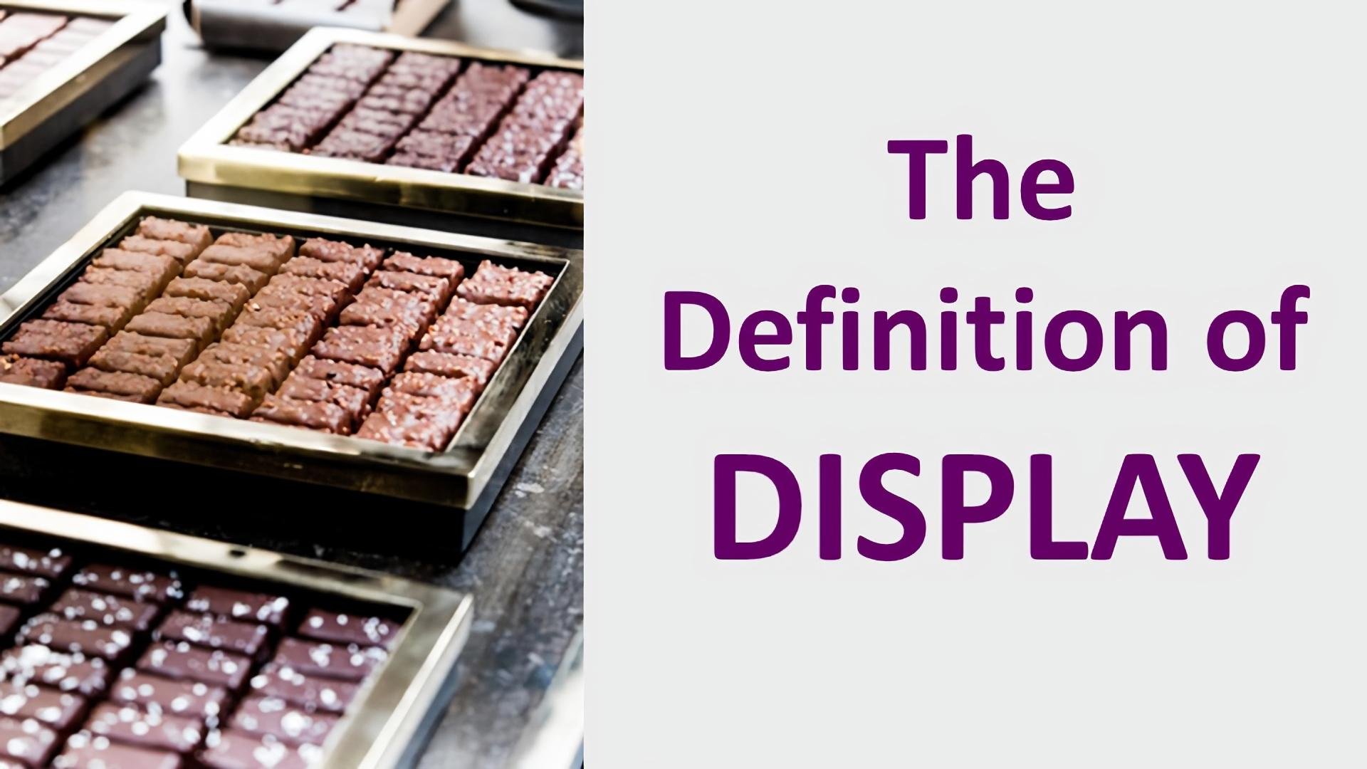 meaning and definition of display
