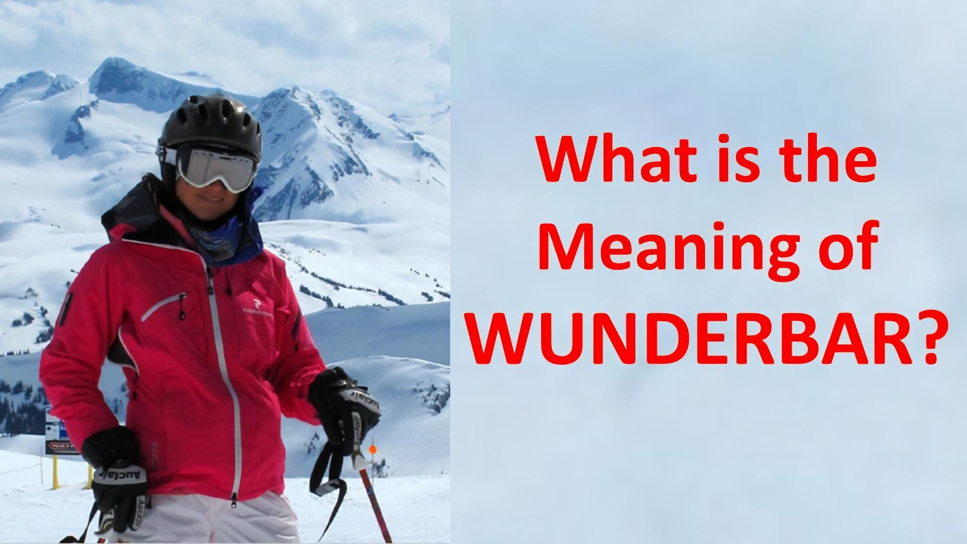 meaning of wunderbar