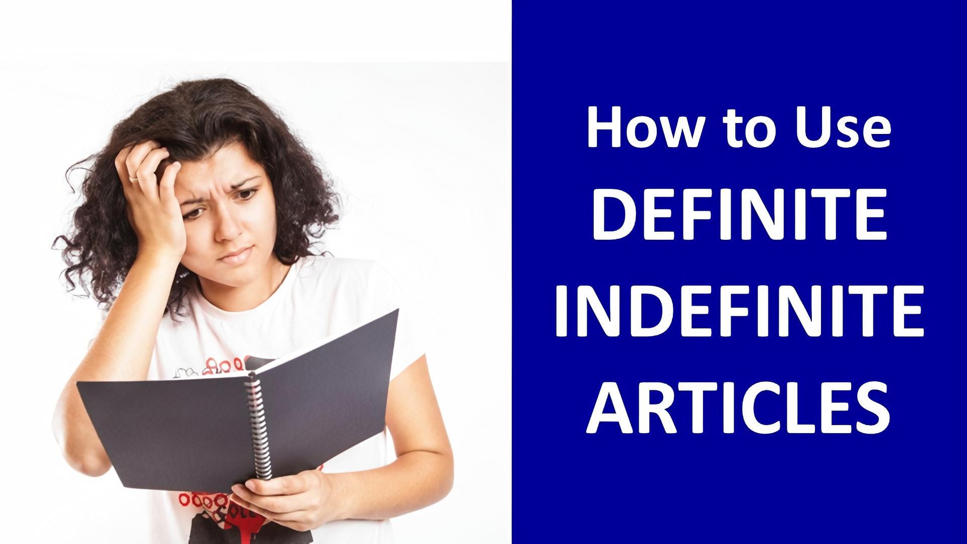 definite indefinite articles