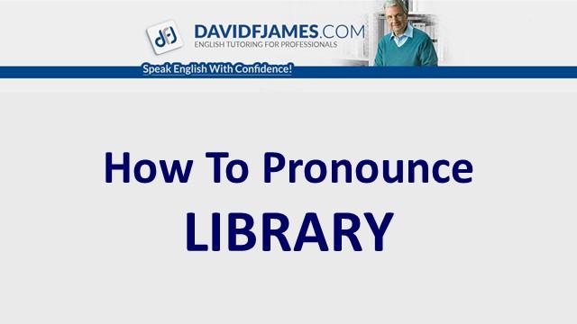pronounce library