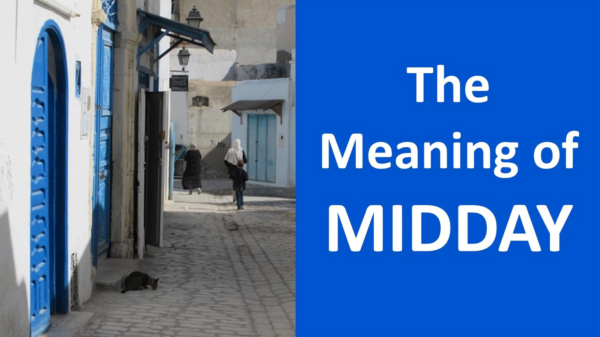 meaning of midday