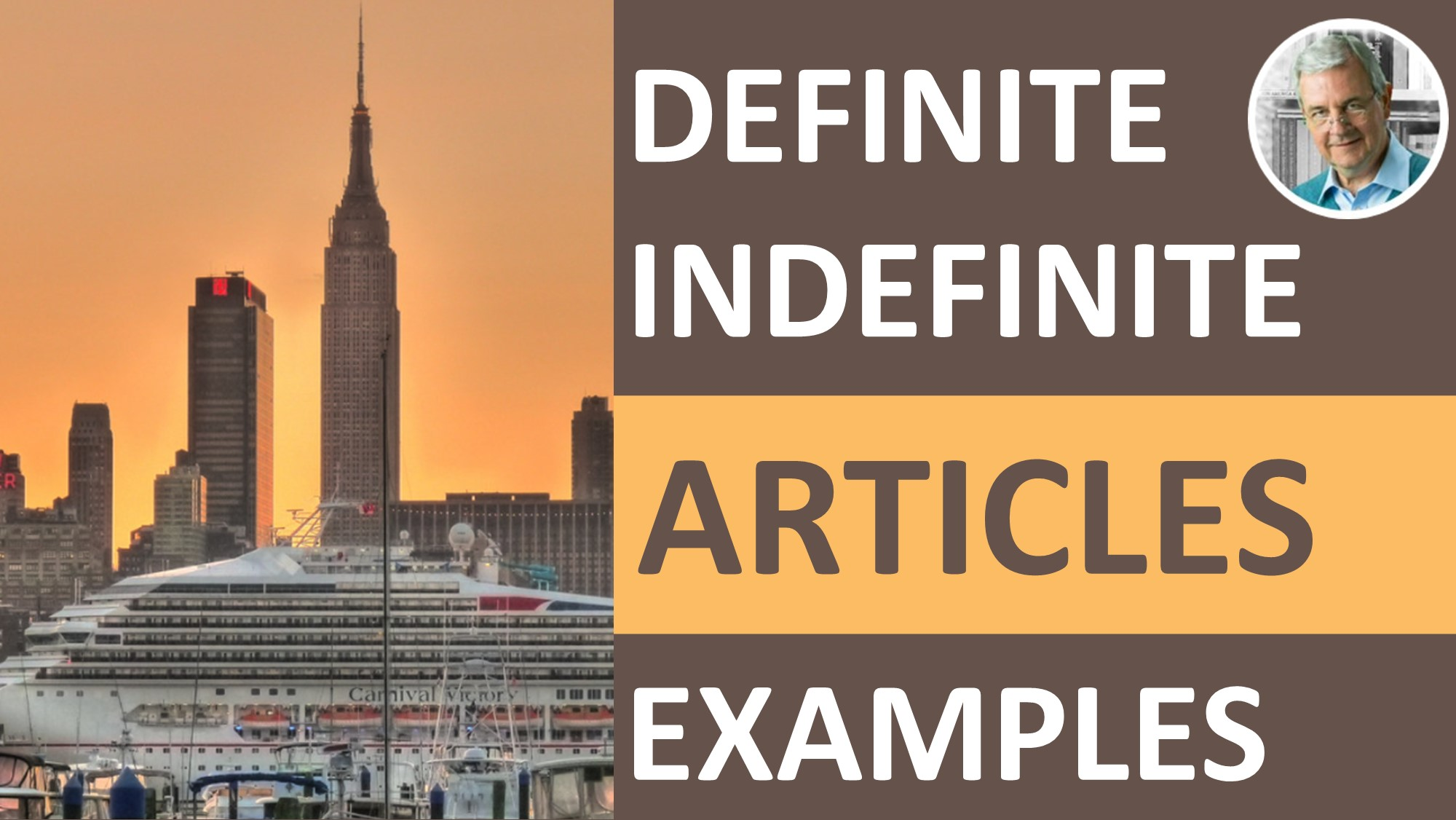 definite and indefinite articles examples