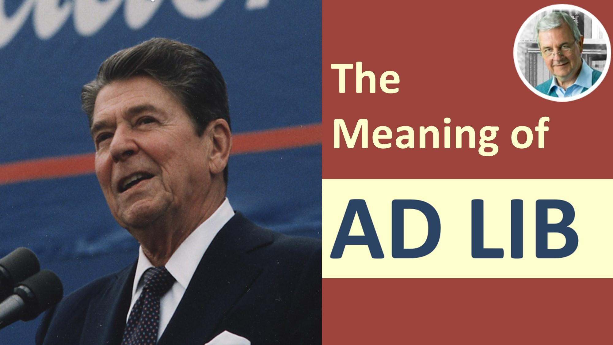 definition of ad lib