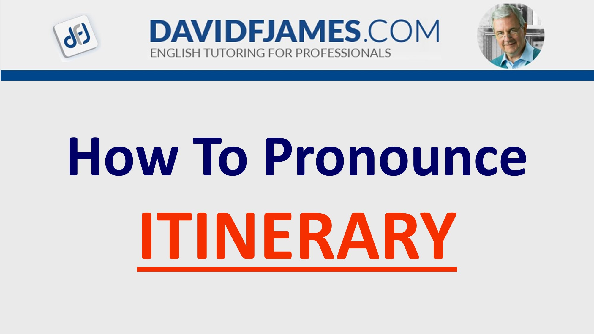 how to pronounce itinerary