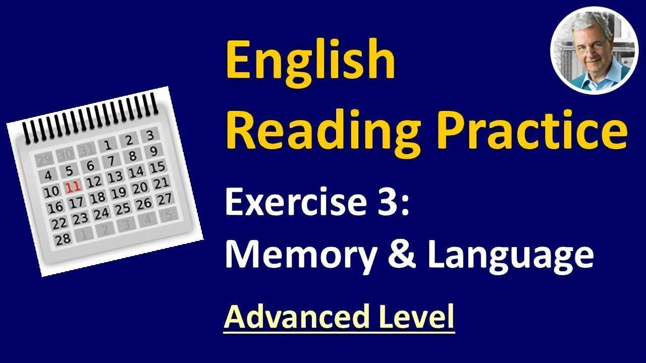 english reading exercise #3 advanced